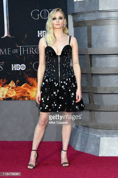 Sophie Turner attends the Game Of Thrones season 8 premiere on April 3 2019 in New York City