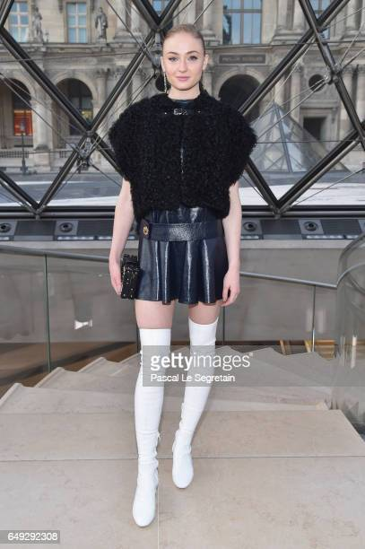 Sophie Turner attends the Louis Vuitton show as part of the Paris Fashion Week Womenswear Fall/Winter 2017/2018 on March 7 2017 in Paris France