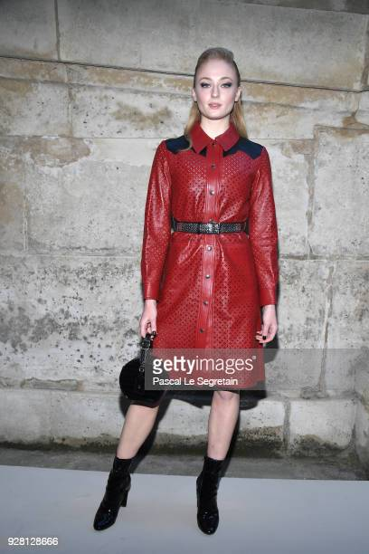 Sophie Turner attends the Louis Vuitton show as part of the Paris Fashion Week Womenswear Fall/Winter 2018/2019 on March 6 2018 in Paris France
