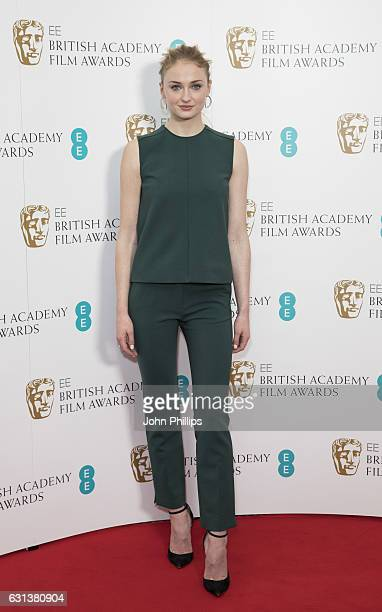 Sophie Turner attends the nominations for the EE British Academy Film Awards are announced on January 10 2017 in London United Kingdom
