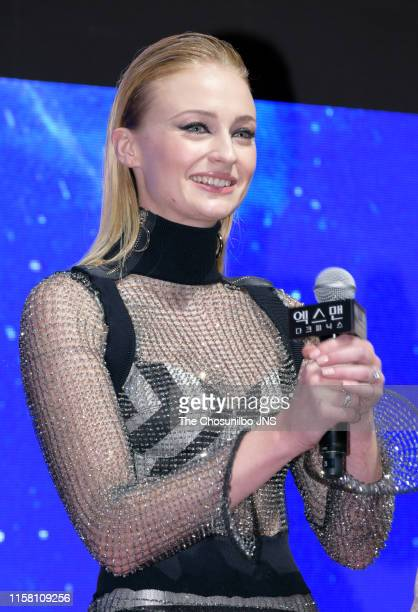 """Sophie Turner attends the Premiere for """"X-Men Dark Phoenix"""" at at Lotte World Mall on May 27, 2019 in Seoul, South Korea."""