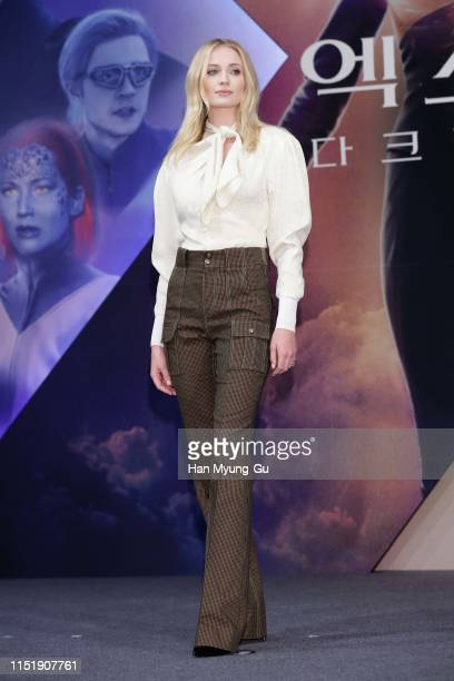 Sophie Turner attends the press conference for South Korean premiere of XMen Dark Phoenix on May 27 2019 in Seoul South Korea The film will open on...