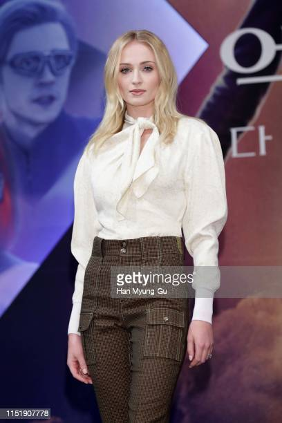 """Sophie Turner attends the press conference for South Korean premiere of """"X-Men: Dark Phoenix"""" on May 27, 2019 in Seoul, South Korea. The film will..."""