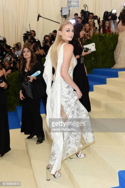 Sophie Turner attends the 'Rei Kawakubo/Comme des Garcons Art Of The InBetween' Costume Institute Gala at Metropolitan Museum of Art on May 1 2017 in...