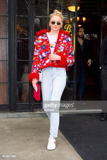 Sophie Turner is seen in the East Village on February 24 2018 in New York City
