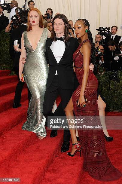 Sophie Turner James Bay and Jourdan Dunn arrives at China Through The Looking Glass Costume Institute Benefit Gala at the Metropolitan Museum of Art...