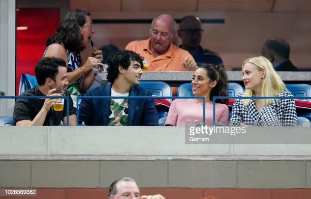 Sophie Turner Joe Jonas Kevin Jonas Daniella Jonas at 2018 US Open on September 3 2018 in New York City