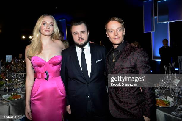 Sophie Turner, John Bradley and Alfie Allen attend the 26th Annual Screen ActorsGuild Awards at The Shrine Auditorium on January 19, 2020 in Los...