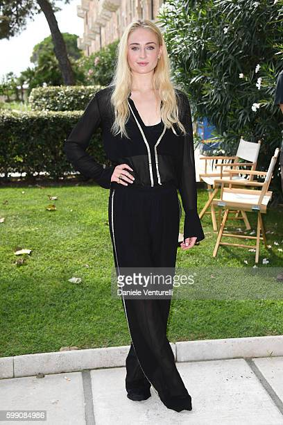 Sophie Turner poses after the Kineo Diamanti Award press conference during the 73rd Venice Film Festival at on September 4 2016 in Venice Italy