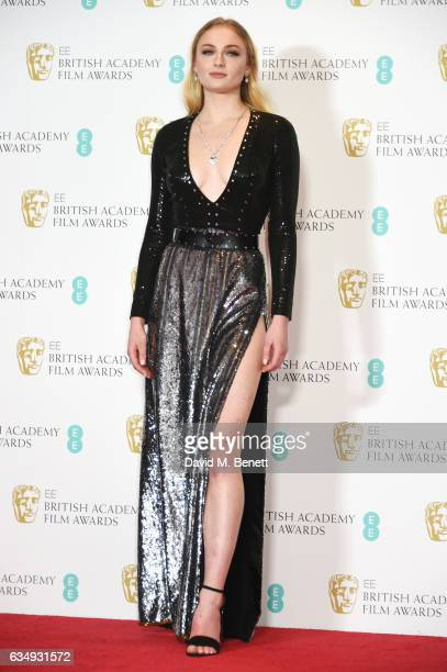 Sophie Turner poses in the winners room at the 70th EE British Academy Film Awards at Royal Albert Hall on February 12 2017 in London England