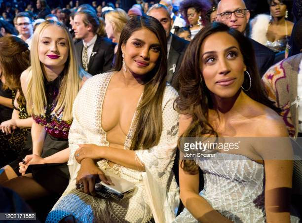 Sophie Turner Priyanka Chopra and Danielle Jonas attend the 62nd Annual GRAMMY Awards on January 26 2020 in Los Angeles California