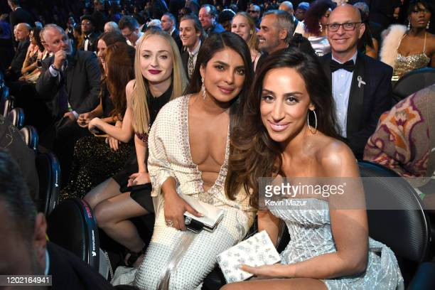 Sophie Turner Priyanka Chopra Jonas and Danielle Jonas during the 62nd Annual GRAMMY Awards at STAPLES Center on January 26 2020 in Los Angeles...