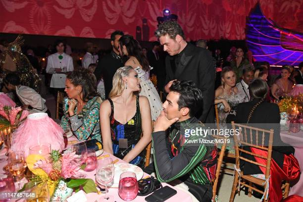 Sophie Turner Richard Madden and Joe Jonas attend The 2019 Met Gala Celebrating Camp Notes on Fashion at Metropolitan Museum of Art on May 06 2019 in...