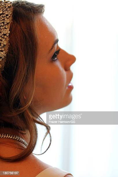 Sophie Tweed Simmons attends the wedding of Gene Simmons and Shannon Tweed at the Beverly Hills Hotel on October 1 2011 in Los Angeles California