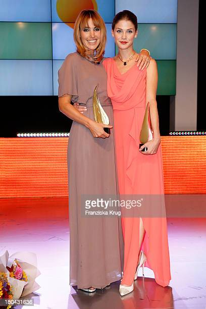 Sophie van der Stap and Lisa Tomaschewsky attend the Dreamball 2013 charity gala at Ritz Carlton on September 12, 2013 in Berlin, Germany.
