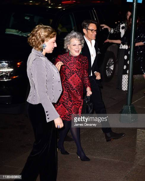 Sophie Von Haselberg and Bette Midler arrive to the wedding reception for Char Defrancesco and Marc Jacobs at The Grill and The Pool on April 6 2019...