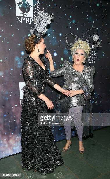 Sophie von Haselberg and Bette Midler attend Bette Midler's New York Restoration Project 22nd annual Hulaween event at Cathedral of St John the...