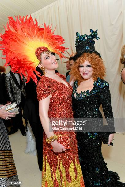 Sophie Von Haselberg and Bette Midler attend The 2019 Met Gala Celebrating Camp Notes on Fashion at Metropolitan Museum of Art on May 06 2019 in New...
