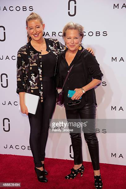 Sophie von Haselberg and her mom Bette Midler pose on the red carpet before the Marc Jacobs Runway Spring 2016 New York Fashion Week The Shows at...
