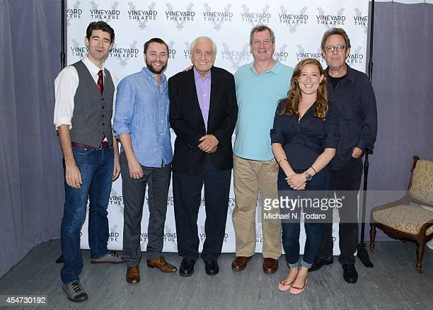 Sophie Von Haselberg Larry Pine Vincent Kartheiser Drew Gehling Gary Marshall and Mike Bencivenga attend the Billy Ray Cast Photocall at Davenport...