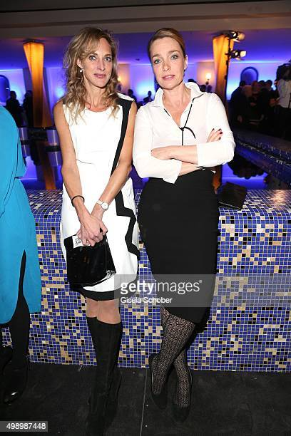 Sophie von Kessel and Aglaia Szyszkowitz during the ARD advent dinner hosted by the program director of the tv station Erstes Deutsches Fernsehen at...