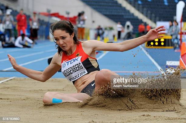 Sophie Weissenberg from Germany competes in women's long jump during the IAAF World U20 Championships at the Zawisza Stadium on July 22 2016 in...