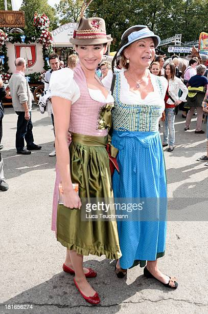 Sophie Wepper and Angela Wepper attend the 'Sixt Damen Wiesn' in Hippodrom tent at Theresienwiese on September 23 2013 in Munich Germany