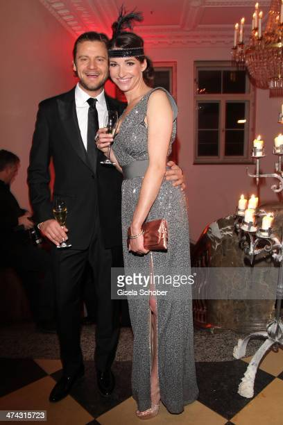 Sophie Wepper and boyfriend David Meister attend the Dresswestern party at Rilano No 6 on February 22 2014 in Munich Germany