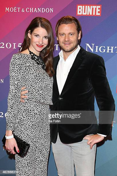 Sophie Wepper and David Meister attend the Bunte BMW Festival Night 2015 on February 06 2015 in Berlin Germany
