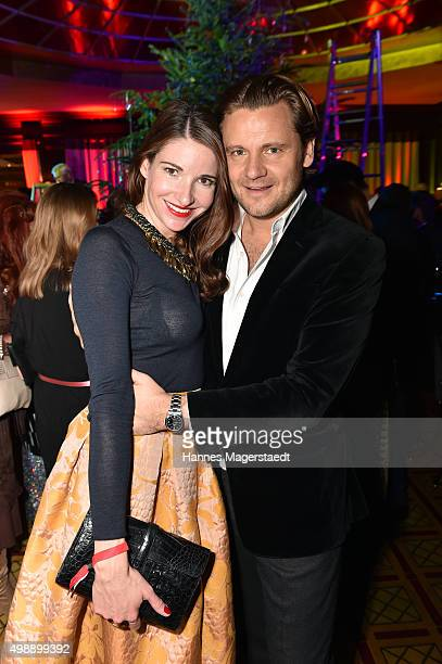 Sophie Wepper and David Meister during a christmas party at Hotel Vier Jahreszeiten Kempinski on November 26 2015 in Munich Germany