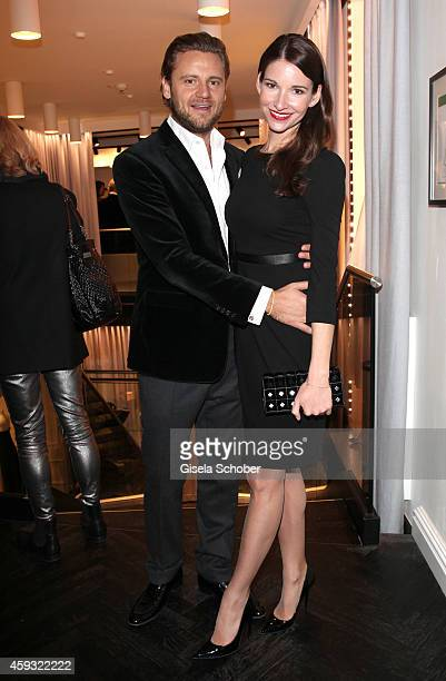 Sophie Wepper and her boyfriend David Meister pose during MaryKate Olsen and Ashley Olsen present their collection 'The Row' at Marion Heinrich on...