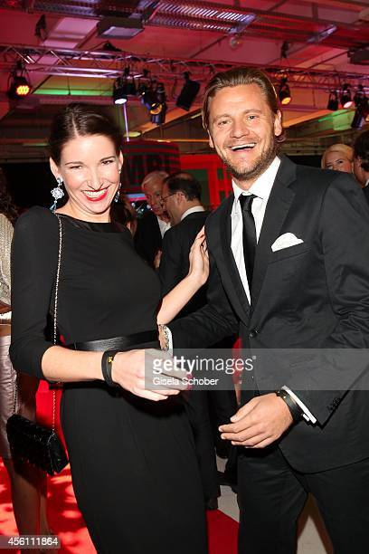 Sophie Wepper and her partner David Meister arrives at Tribute To Bambi 2014 at Station on September 25 2014 in Berlin Germany