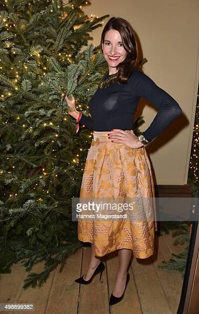 Sophie Wepper during a christmas party at Hotel Vier Jahreszeiten Kempinski on November 26 2015 in Munich Germany