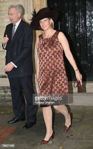 Sophie Wessex attends the wedding of Chloe Delevingne and Louis Buckworth on September 7 2007 in London England