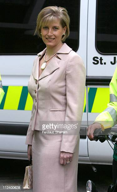 Sophie Wessex during St John's Ambulances London Photocall April 20 2006 at St John's Gate in London Great Britain