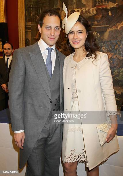 Sophie Winkleman and Lord Frederick Windsor attend a reception for the Diamond Jubilee at Guildhall on June 5 2012 in London England For only the...
