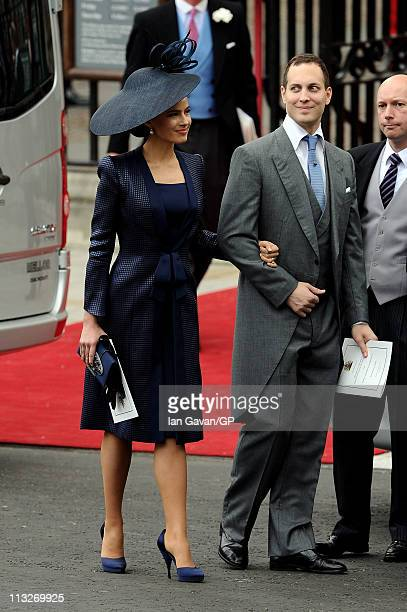 Sophie Winkleman, Lady Frederick Windsor and Lord Frederick Windsor exit Westminster Abbey after the Royal Wedding of Prince William to Catherine...