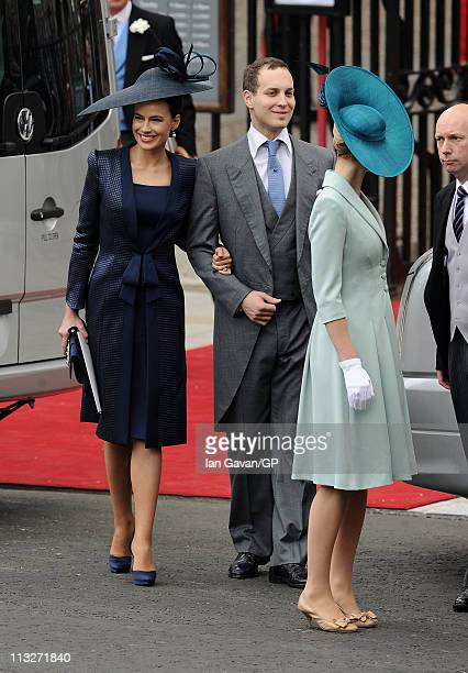 Sophie Winkleman Lady Frederick Windsor and Lord Frederick Windsor exit Westminster Abbey after the Royal Wedding of Prince William to Catherine...