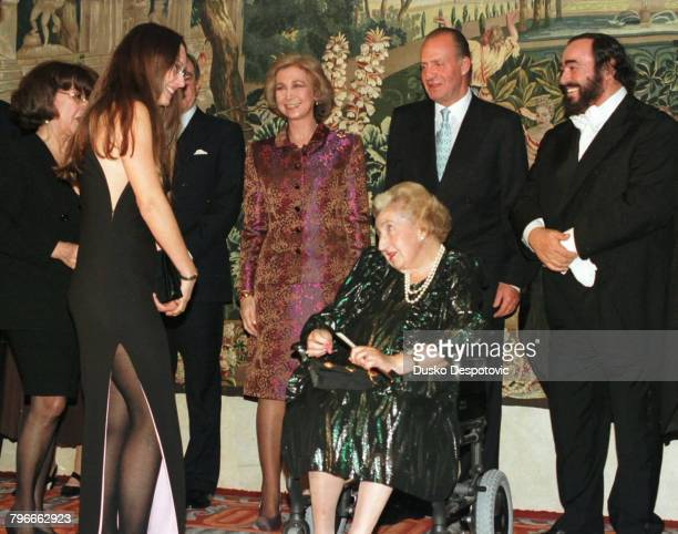 SophieJuan Carlosthe Countess of BarcelonaLuciano Pavarotti and his partner Nicoletta Mantovani