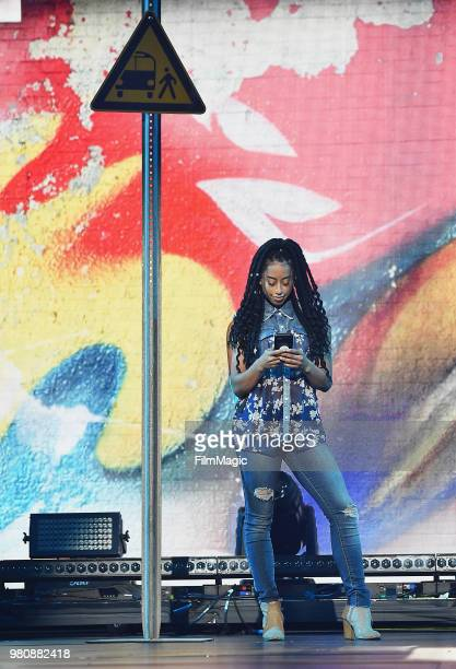 Sophina DeJesus appears at YouTube OnStage during VidCon at the Anaheim Convention Center Arena on June 21 2018 in Anaheim California