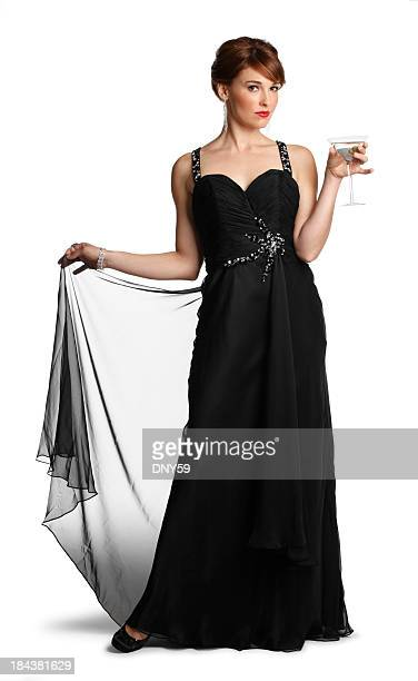 sophisticated lady - evening gown stock pictures, royalty-free photos & images