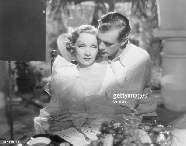 1936A sophisticated Marlene Dietrich plays French thief Madeleine de Beaupre who is being courted by the American engineer Tom Bradley in a movie...