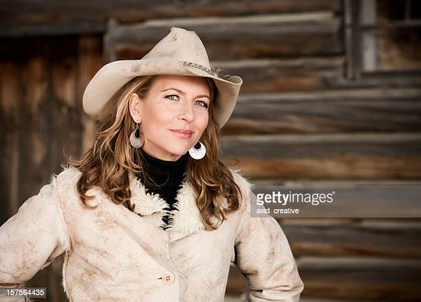 Sophisticated Modern Cowgirl Portrait