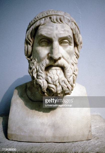 Sophocles Athenian writer of tragedies. Great figure in Ancient Greek drama. Marble portrait bust said to be of Sophocles.