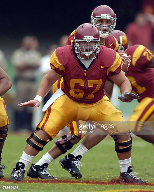 Sophomore center Ryan Kalil during 45-7 victory over Arizona State in Pacific-10 Conference football game at the Los Angeles Memorial Coliseum on...