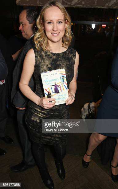 Sophy Ridge attends the launch of her new book The Women Who Shaped Politics at the Blue Boar Bar on March 21 2017 in London England