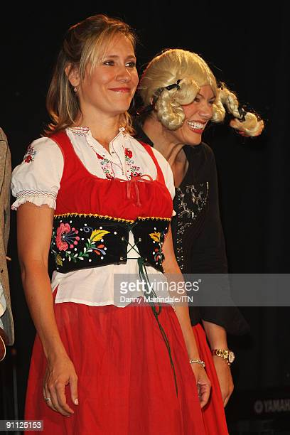 Sopie Raworth and Kate Silverton of the BBC news team perform at the Newsroom�s Got Talent event held in aid of Leonard Cheshire Disability and Helen...