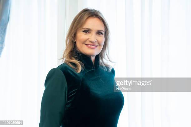 Soprano Ainhoa Arteta attends the presentation of her innovative OPERA GARAGE project in Madrid Spain on March 7 2019