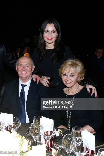 Soprano Alexandra Kurzak and her parents attend the AROP Charity Gala with the representation of Carmen at Opera Bastille on March 10 2017 in Paris...