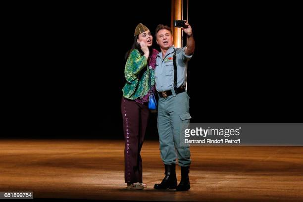 Soprano Alexandra Kurzak and Tenor Roberto Alagna perform during the AROP Charity Gala in the representation of Carmen at Opera Bastille on March 10...